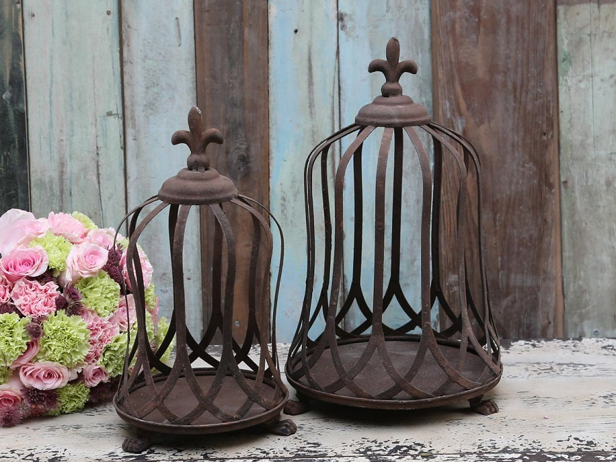 chic antique metall krone und teller tablett shabby wie antik rost landhaus deko ebay. Black Bedroom Furniture Sets. Home Design Ideas