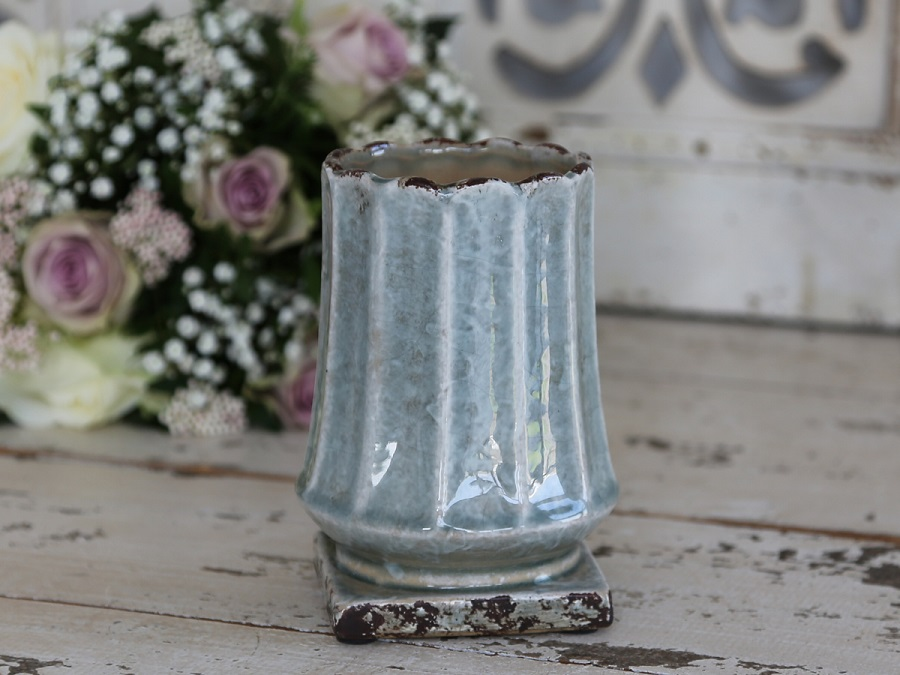 Chic antique blumentopf bertopf pokal landhaus flowerpot for Ausgefallene dekoartikel