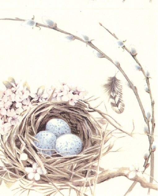 Ihr lunch servietten bird 39 s nest vogel eier ostern for Wohnaccessoires wohnraumdeko